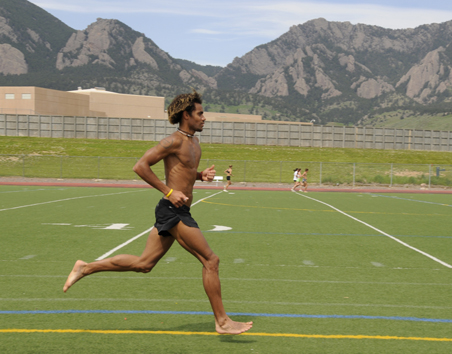 Barefoot Running : Race days testing